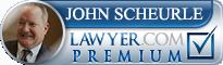John R. Scheuerle  Lawyer Badge