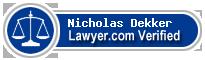 Nicholas R. Dekker  Lawyer Badge