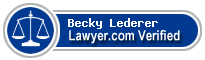 Becky Sue Lederer  Lawyer Badge