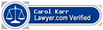 Carol J. Karr  Lawyer Badge