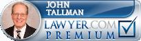 John D. Tallman  Lawyer Badge