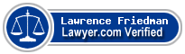 Lawrence A. Friedman  Lawyer Badge