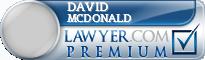 David E. Mcdonald  Lawyer Badge