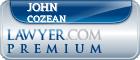 John E. Cozean  Lawyer Badge