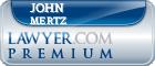 John F. Mertz  Lawyer Badge