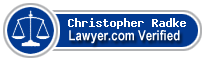 Christopher J. Radke  Lawyer Badge