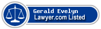 Gerald Evelyn Lawyer Badge