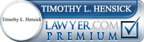 Timothy L. Hensick  Lawyer Badge