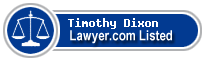 Timothy Dixon Lawyer Badge