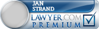 Jan E. Strand  Lawyer Badge