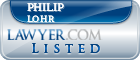 Philip Lohr Lawyer Badge