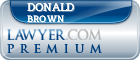 Donald M. Brown  Lawyer Badge