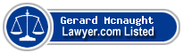 Gerard Mcnaught Lawyer Badge