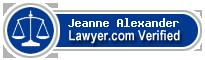 Jeanne M. Alexander  Lawyer Badge