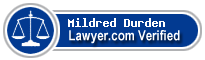 Mildred Frances Durden  Lawyer Badge
