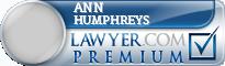 Ann H. Humphreys  Lawyer Badge