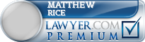 Matthew Kenneth Rice  Lawyer Badge