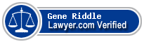 Gene A. Riddle  Lawyer Badge