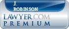 J. G. Robinson  Lawyer Badge