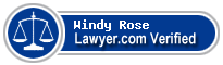 Windy Hassell Rose  Lawyer Badge