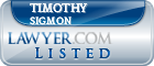 Timothy Sigmon Lawyer Badge