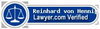 Reinhard von Hennigs  Lawyer Badge