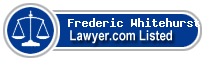 Frederic Whitehurst Lawyer Badge