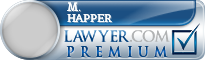 M. Marshall Happer  Lawyer Badge
