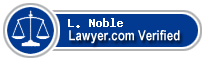L. O. Noble  Lawyer Badge