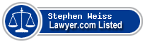Stephen Weiss Lawyer Badge