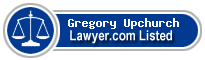 Gregory Upchurch Lawyer Badge