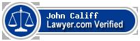John Carter Califf  Lawyer Badge