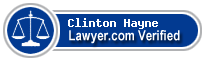Clinton Peck Hayne  Lawyer Badge