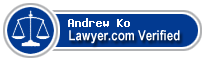 Andrew William Ko  Lawyer Badge