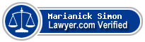 Marianick Simon  Lawyer Badge