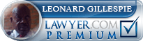 Leonard X. Gillespie  Lawyer Badge