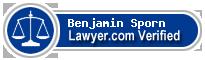 Benjamin Theodore Sporn  Lawyer Badge