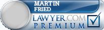 Martin Leon Fried  Lawyer Badge