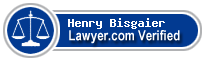 Henry George Bisgaier  Lawyer Badge