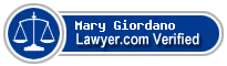 Mary Gold Giordano  Lawyer Badge