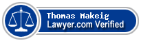 Thomas Howard Makeig  Lawyer Badge