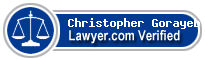 Christopher J. Gorayeb  Lawyer Badge