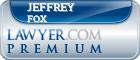 Jeffrey B. Fox  Lawyer Badge