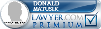 Donald M. Matusik  Lawyer Badge