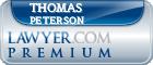 Thomas W. Peterson  Lawyer Badge