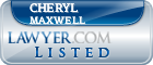 Cheryl Maxwell Lawyer Badge