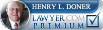 Henry Lawrence Doner  Lawyer Badge