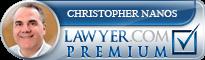 Christopher William Nanos  Lawyer Badge