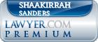 Shaakirrah Rafeea Sanders  Lawyer Badge