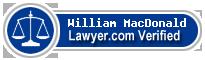 William John MacDonald  Lawyer Badge